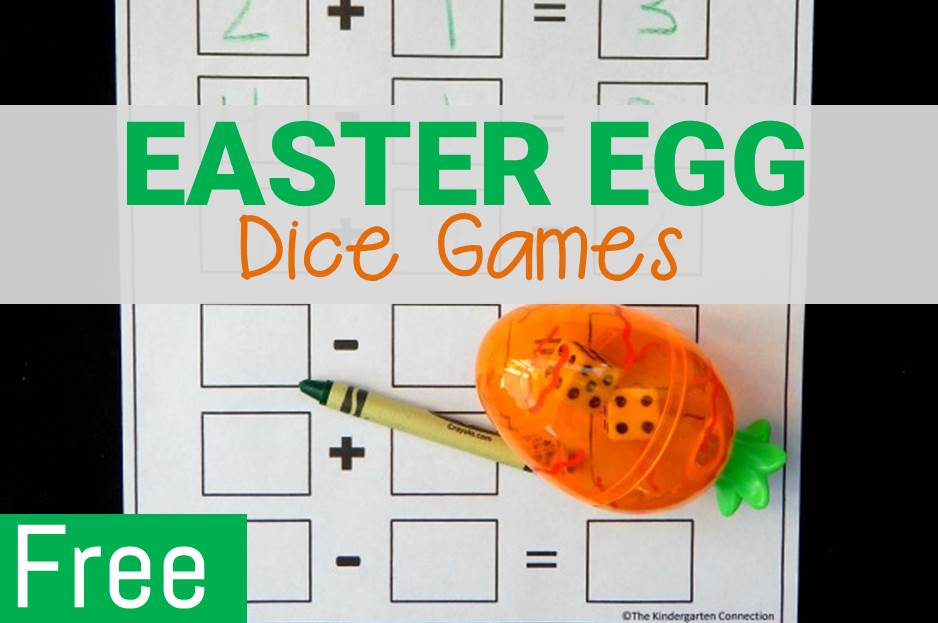 Spring Math Games with Dice