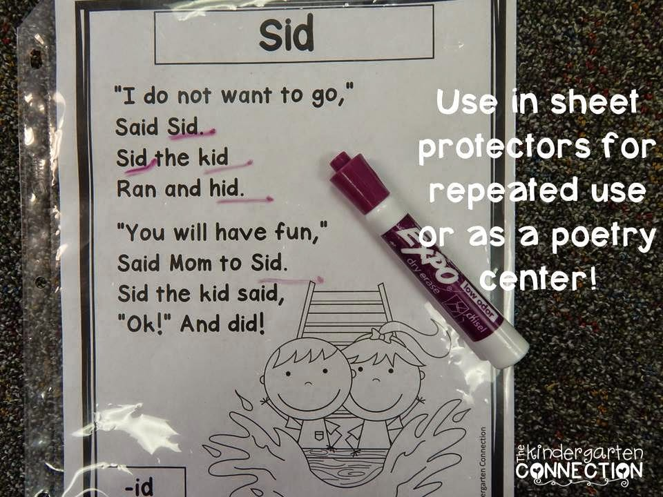 Phonics Poems For Early Readers And Freebies The