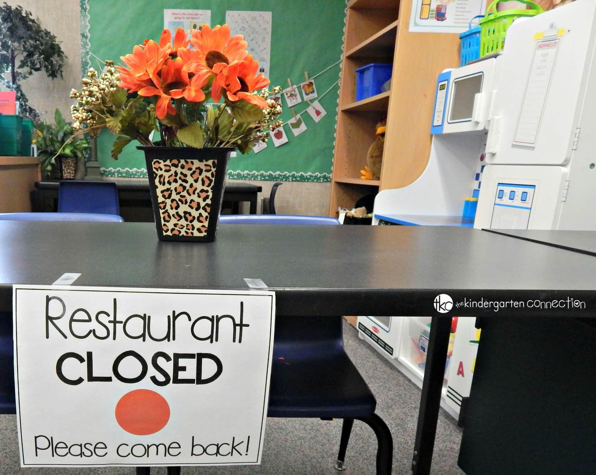 restaurant dramatic play the kindergarten connection