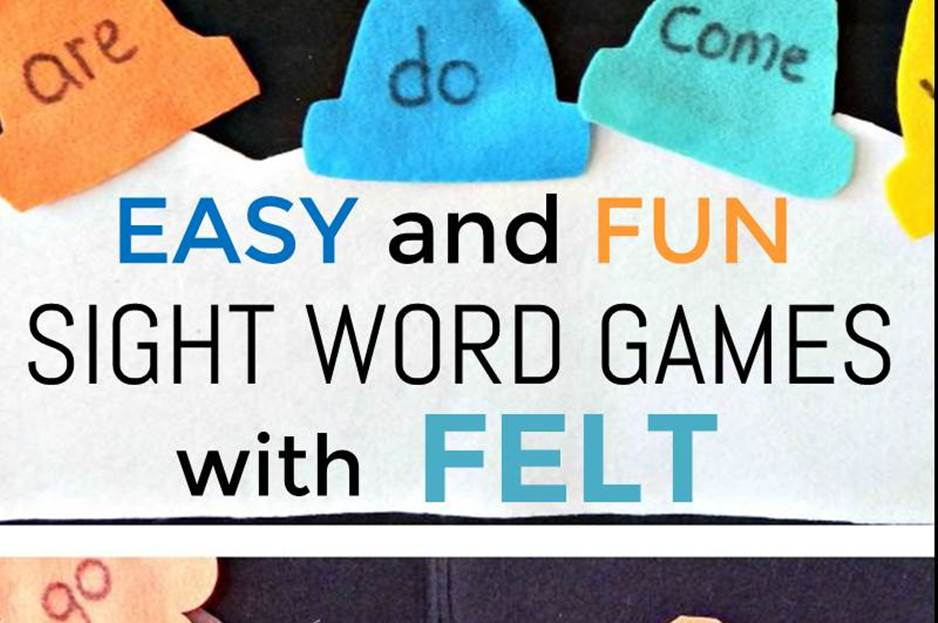 Easy and Fun Sight Word Felt Games