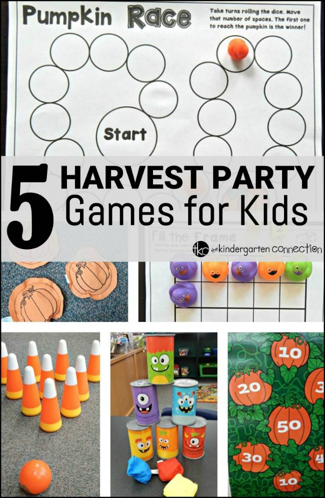 5 harvest party games for kids the kindergarten connection for Halloween party games for preschoolers