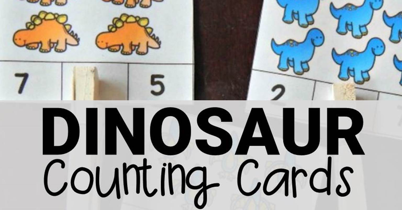 Dinosaur Counting Cards The Kindergarten Connection
