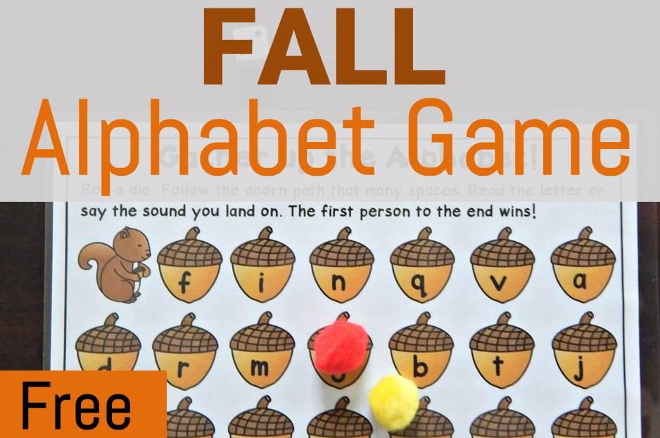 Free Fall Alphabet Game