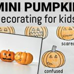 Mini Pumpkin Decorating for Kids