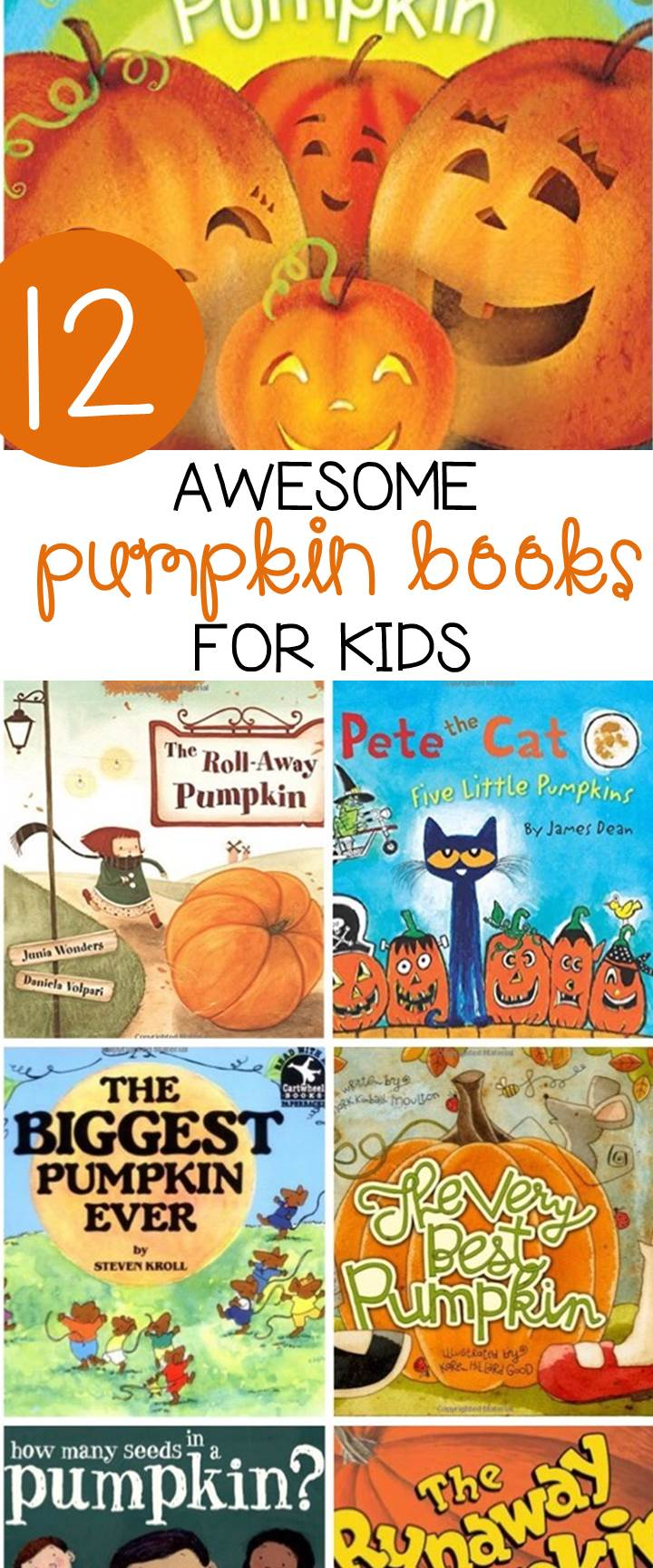 These pumpkin books for kids are great to read this fall!
