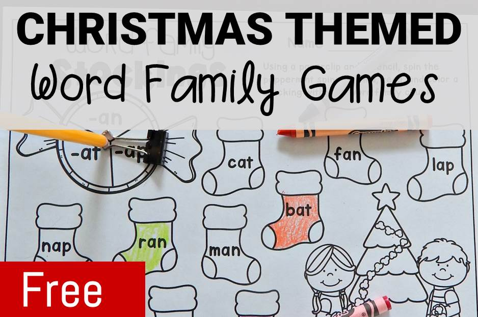 Christmas Themed Word Family Games