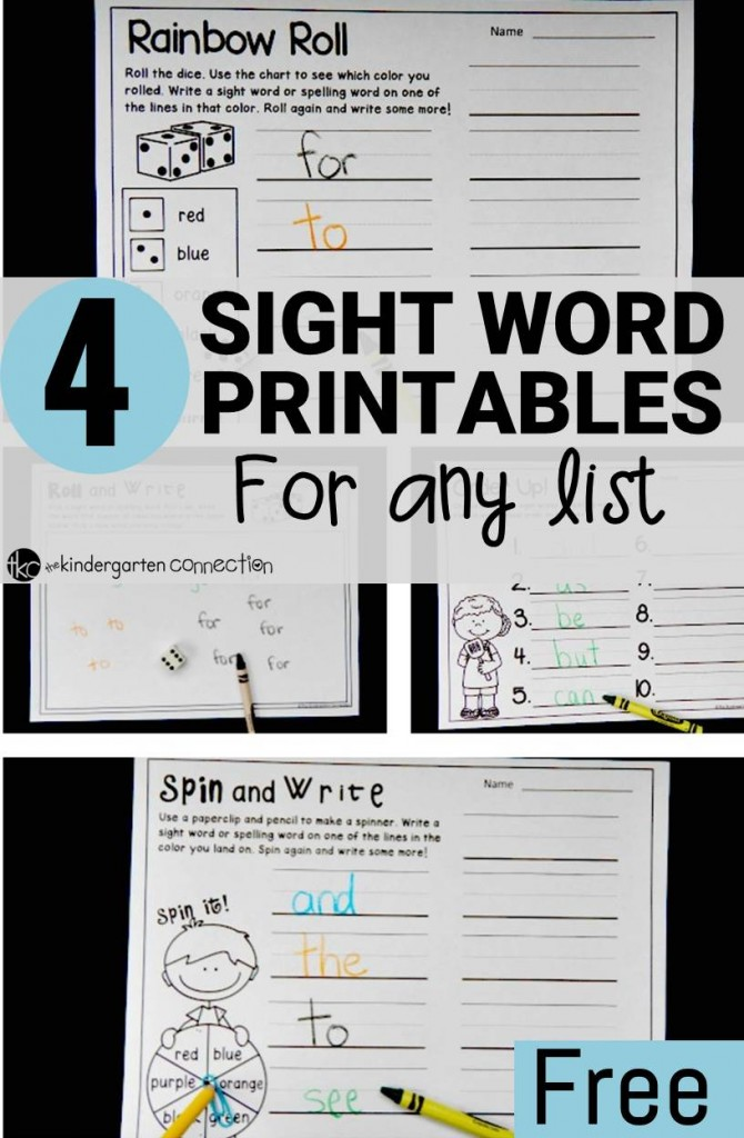 games easily word are printables students  for These my  sight that kindergarten differentiated.  sight word