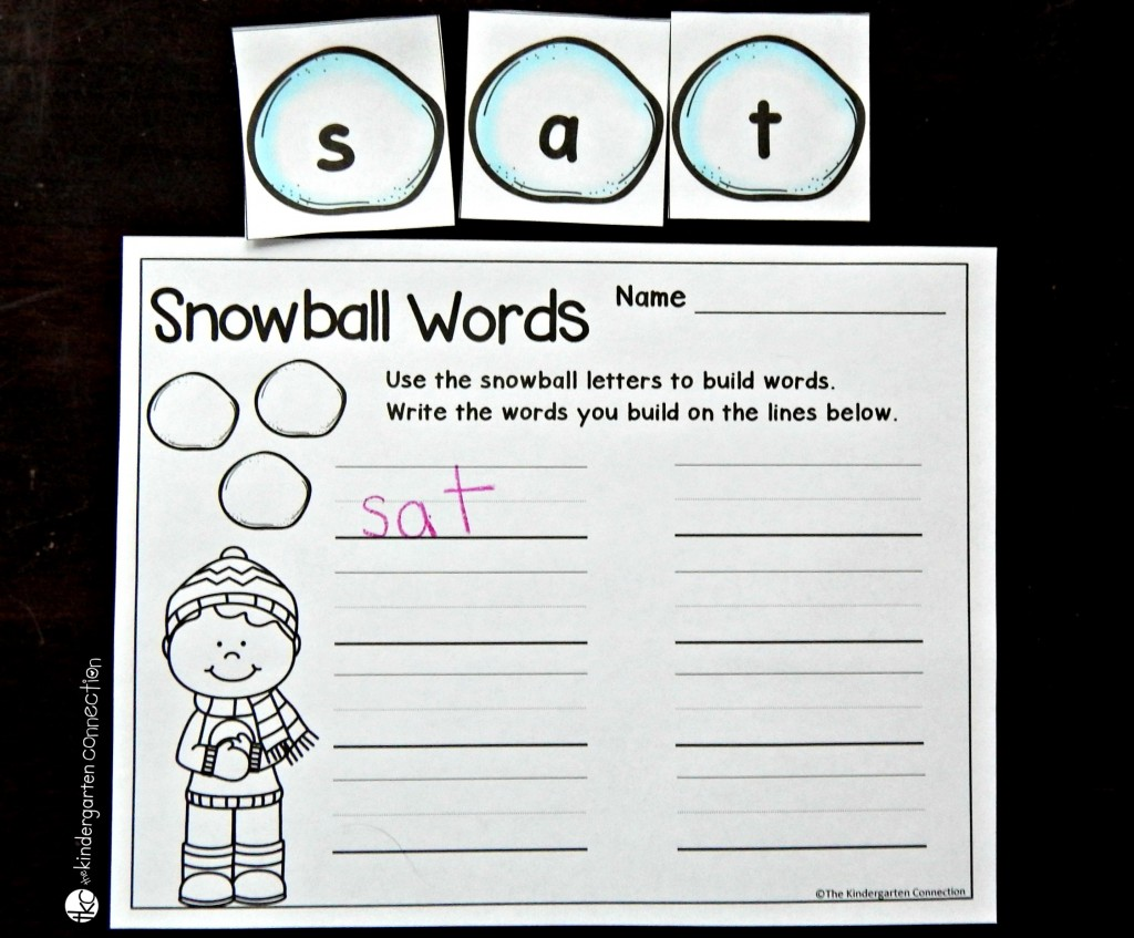 winter alphabet cards word making