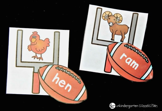 This CVC word game is perfect for any early reader - especially a football fan!