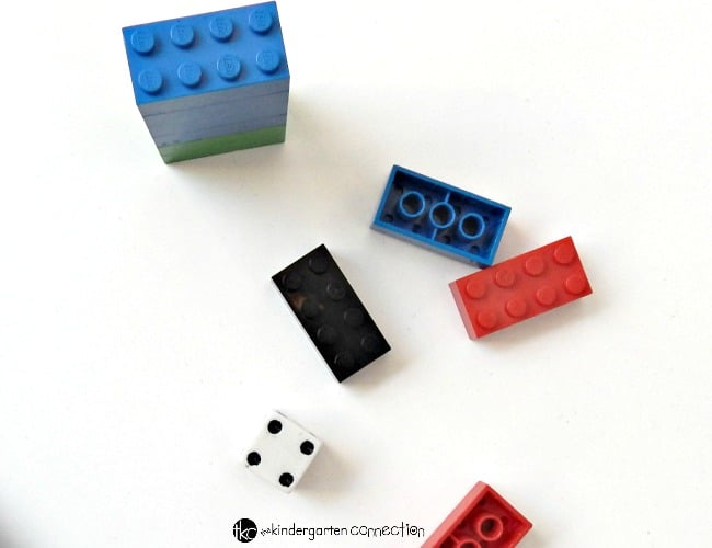 Practice subtraction with this simple and fun lego game!
