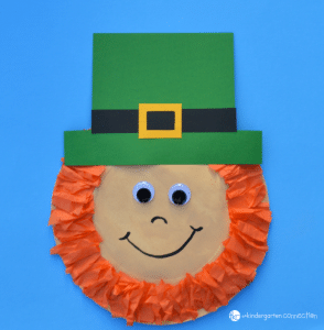 This paper plate leprechaun is fun and simple St. Patrick's Day craft that kids will love to make this March!