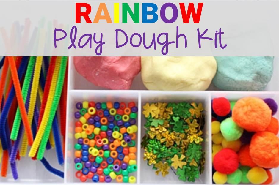 rainbow play dough kit main image