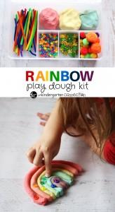 rainbow playdough kit