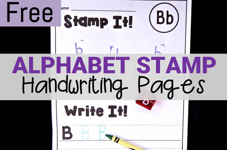 Alphabet Stamp Handwriting Pages