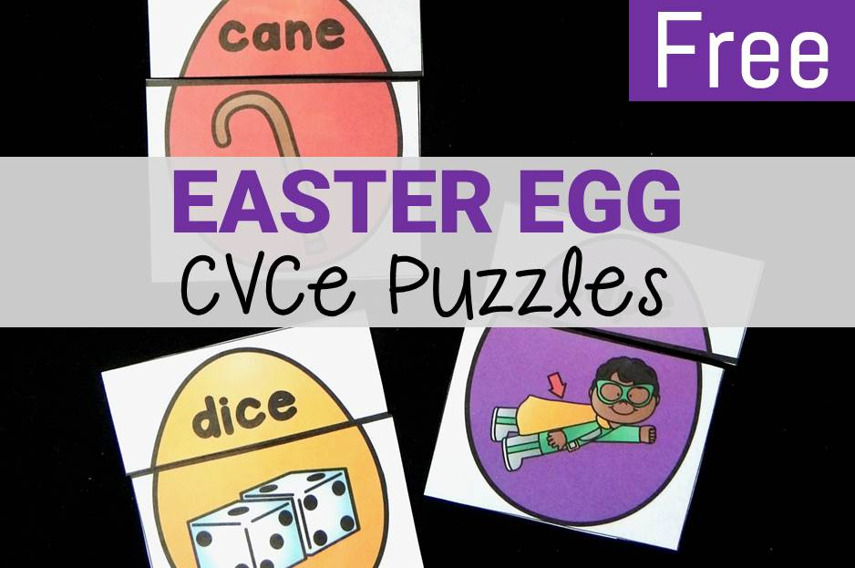 Easter Egg CVCe Puzzles