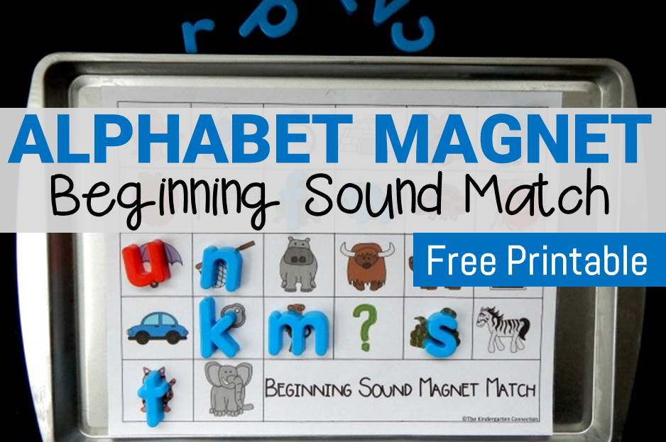 Alphabet Magnets Beginning Sound Match