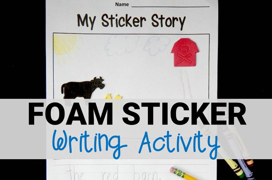 Foam Sticker Writing Activity