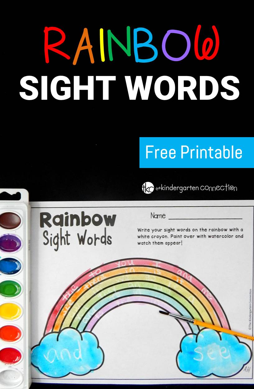 "Create ""magical"" rainbow sight words with this super fun activity! Your kids will love writing and reading sight words and watching them appear!"
