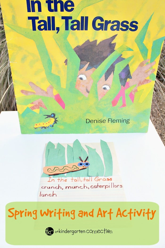 "This creative spring writing and art activity for kids pairs perfectly with the book ""In the Tall, Tall, Grass."" Read the book and create your own page!"