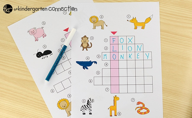 These picture crossword puzzles are perfect for early readers and writers! They make a great work work activity for school or home!