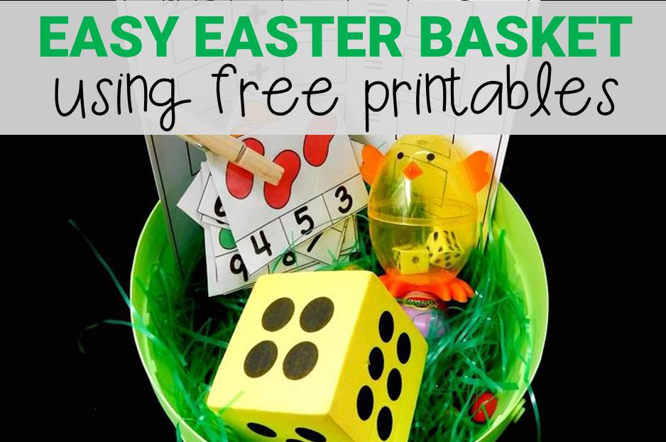 Easy Easter Basket with Free Printables