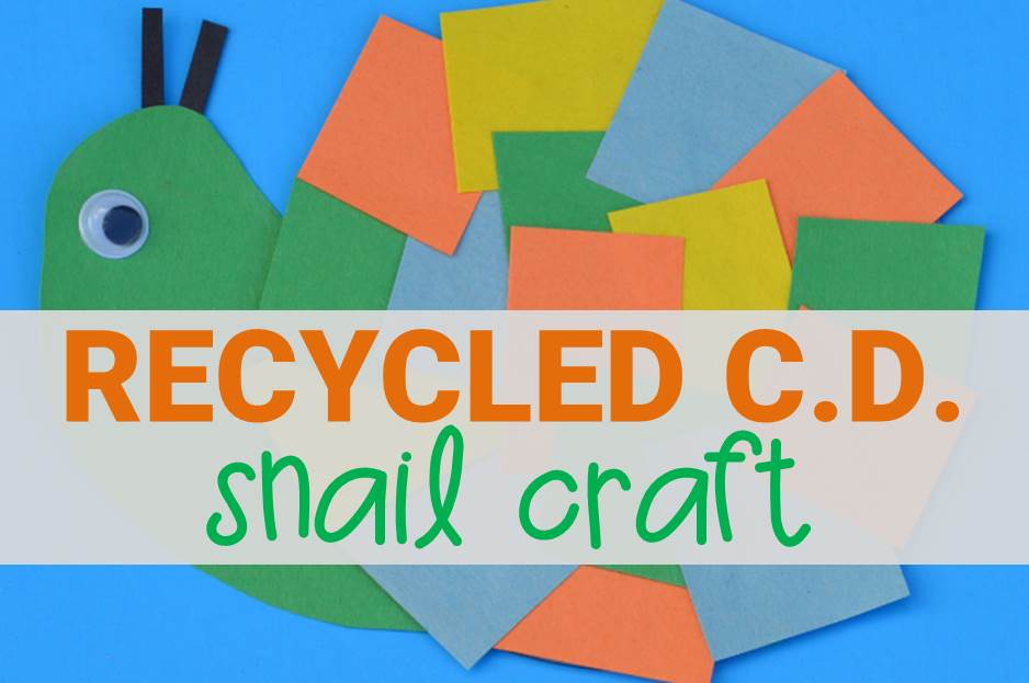 recycled cd snail craft main image