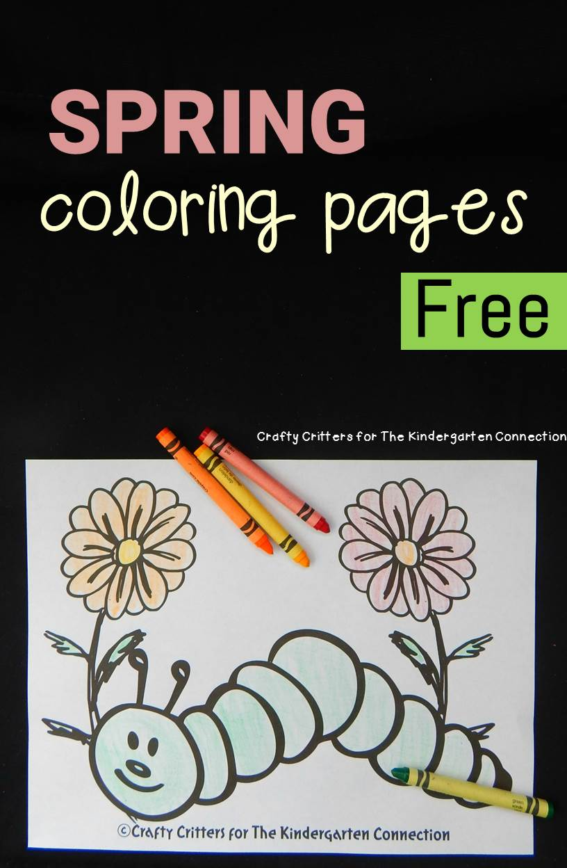 Spring coloring pages kindergarten - Spring Coloring Pages