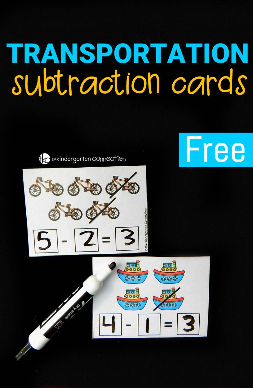 tranpsortation subtraction cards pin2