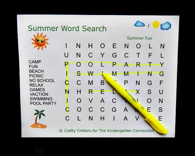 These summer word searches for kids are the perfect grab and go activity! With words that go only vertical and horizontal, they are great for beginners!
