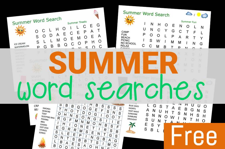 Summer Word Searches for Kids