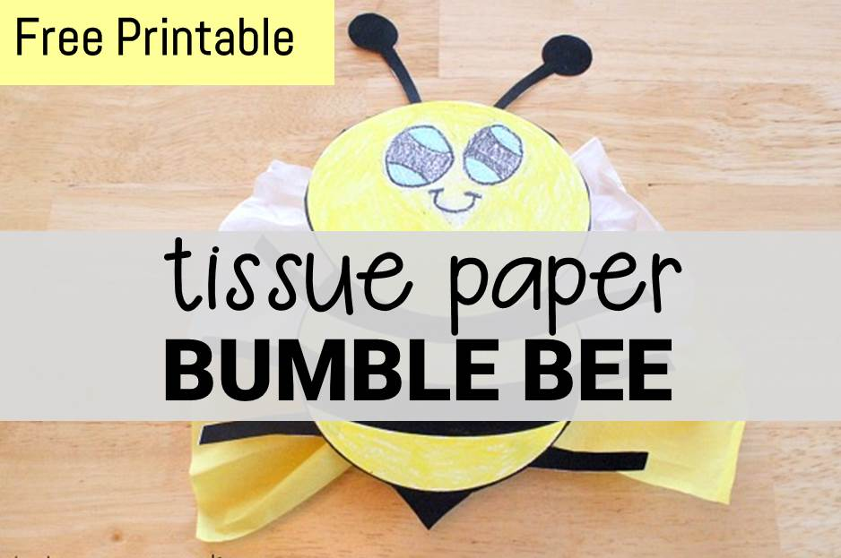 Tissue Paper Bumble Bee