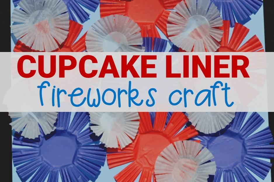 cupcake liner fireworks craft