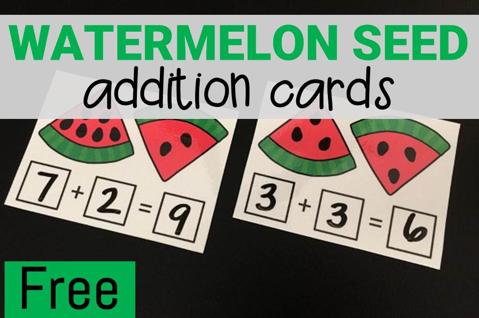 Watermelon Seed Addition Cards