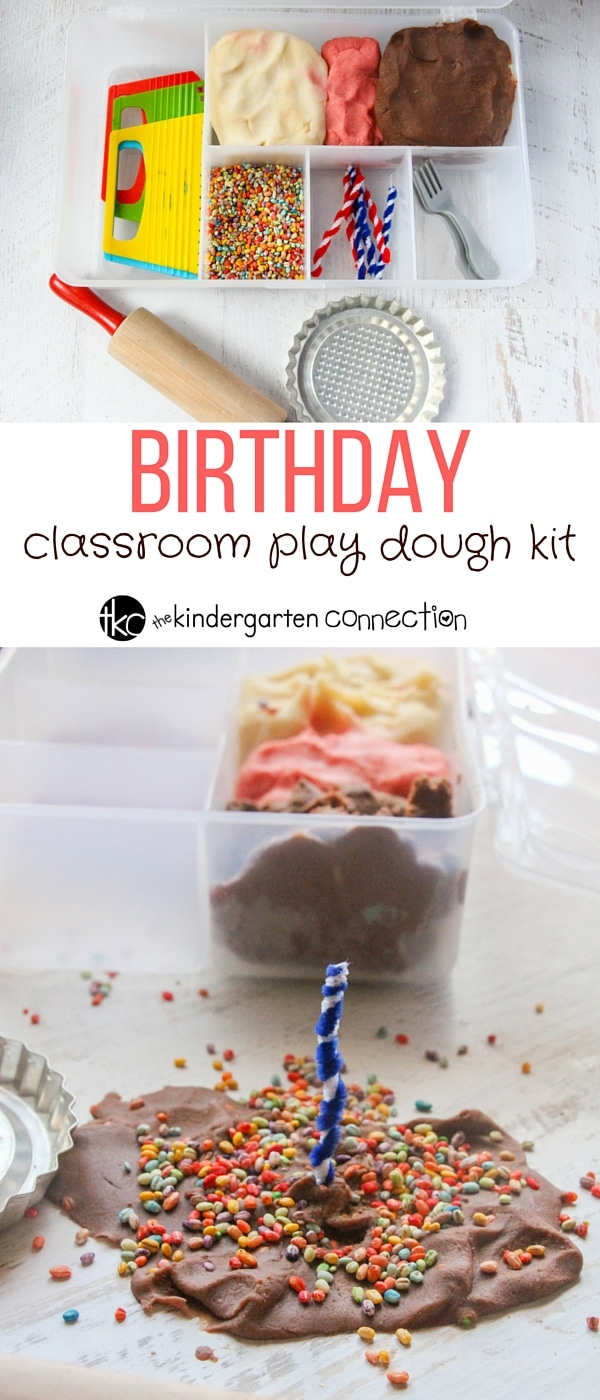 This birthday play dough kit is such a fun way to celebrate birthdays in the classroom, or for a fun sensory play center anytime!