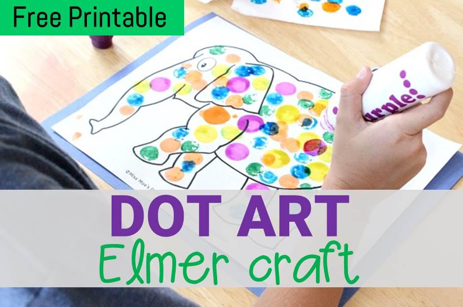 Dot Art Elmer Craft