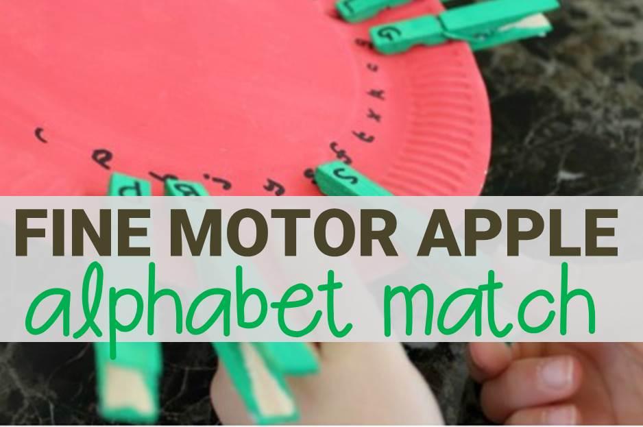 fine motor apple alphabet match main image