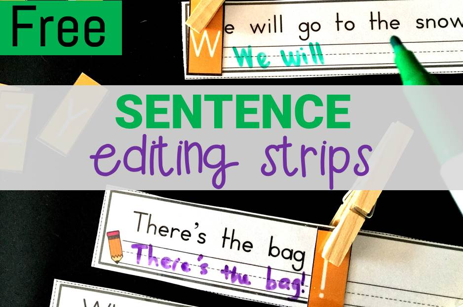 Sentence Editing Strips