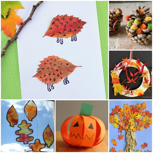 Easy Fall Crafts for Kindergarten