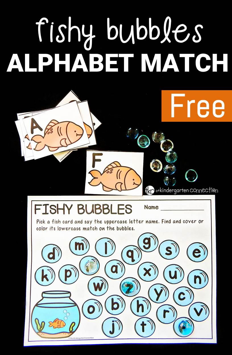 This alphabet match uses dollar store gems and is perfect for preschoolers and kindergarteners that are learning upper and lowercase letters!