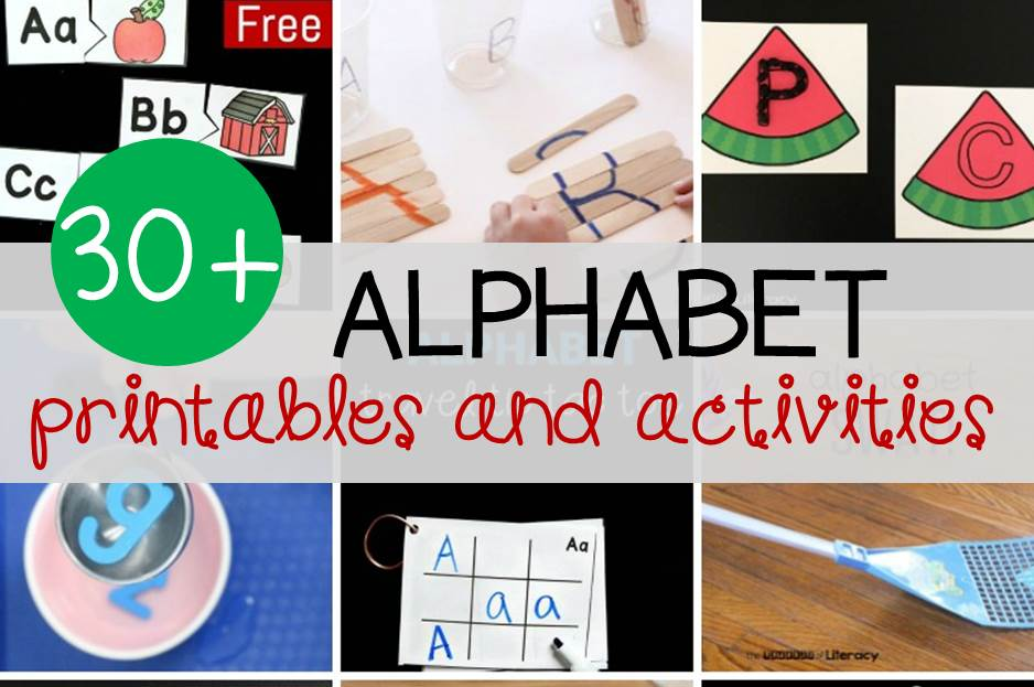30+ Alphabet Printables and Activities