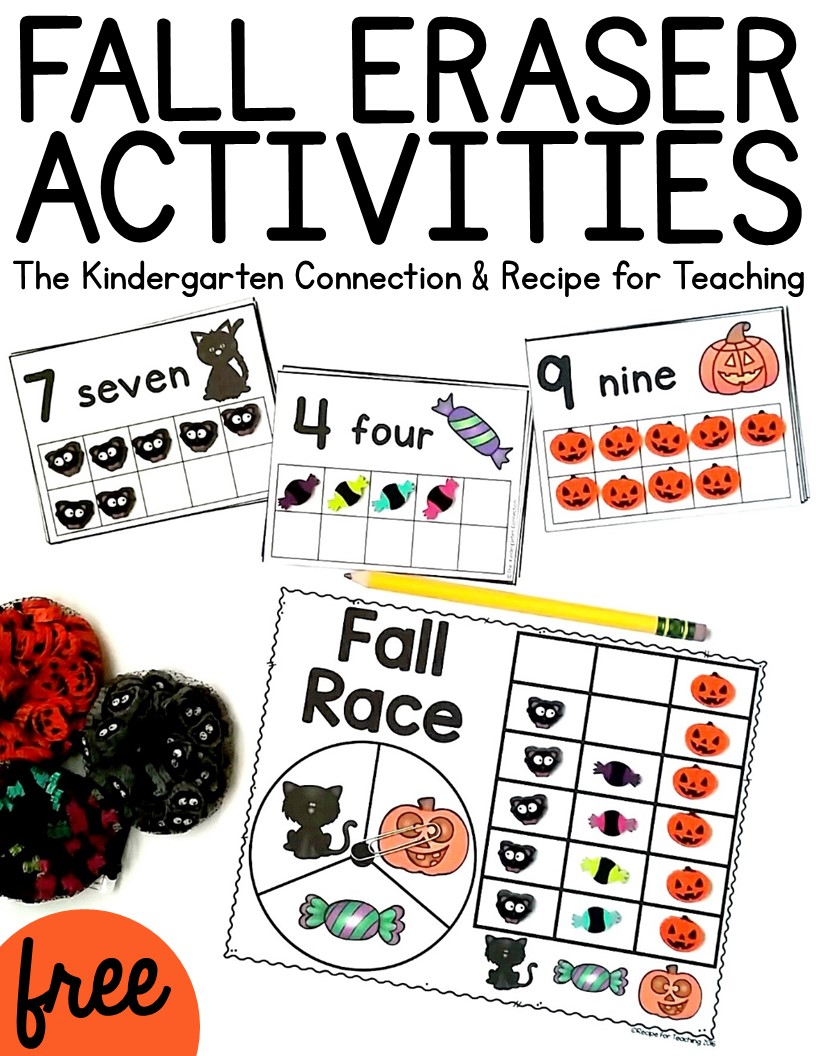 fun Halloween activities for kids using erasers from Target!