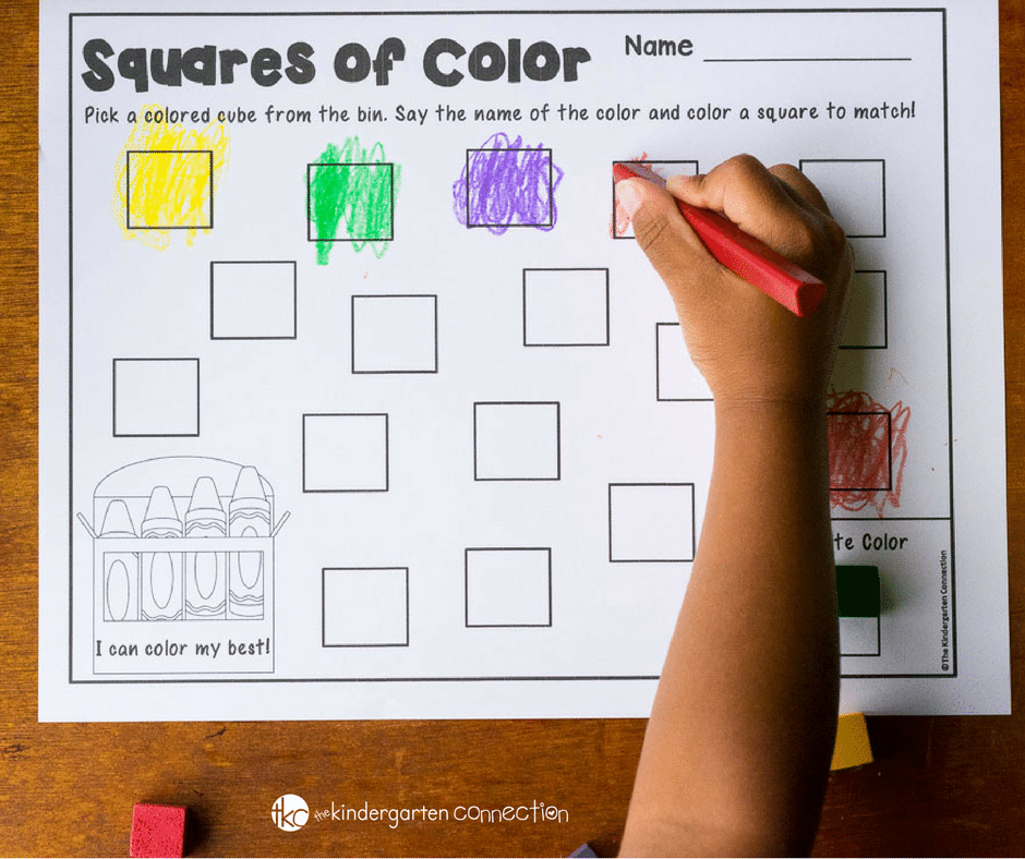 This color sorting center and free printable activity is perfect for preschoolers and kindergarteners who are working on identifying colors and sorting!