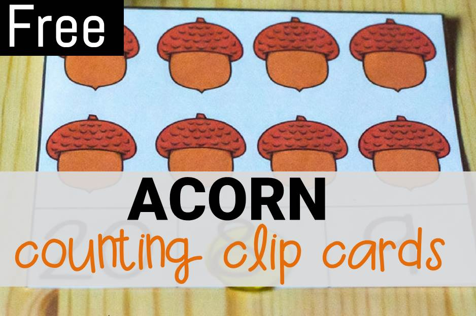 Acorn Counting Clip Cards