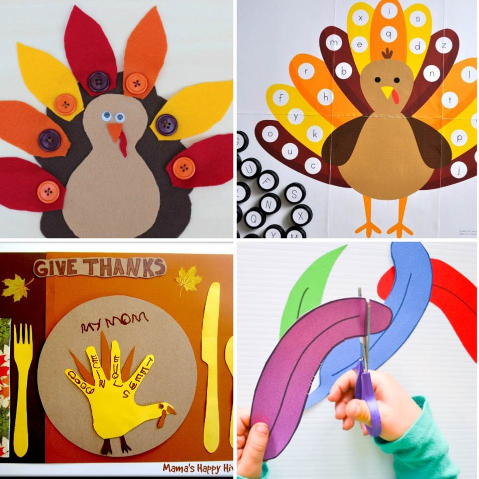 These turkey activities are so fun to do in the fall and are great thanksgiving activities for kids. Turkey crafts, printables, games, and more!