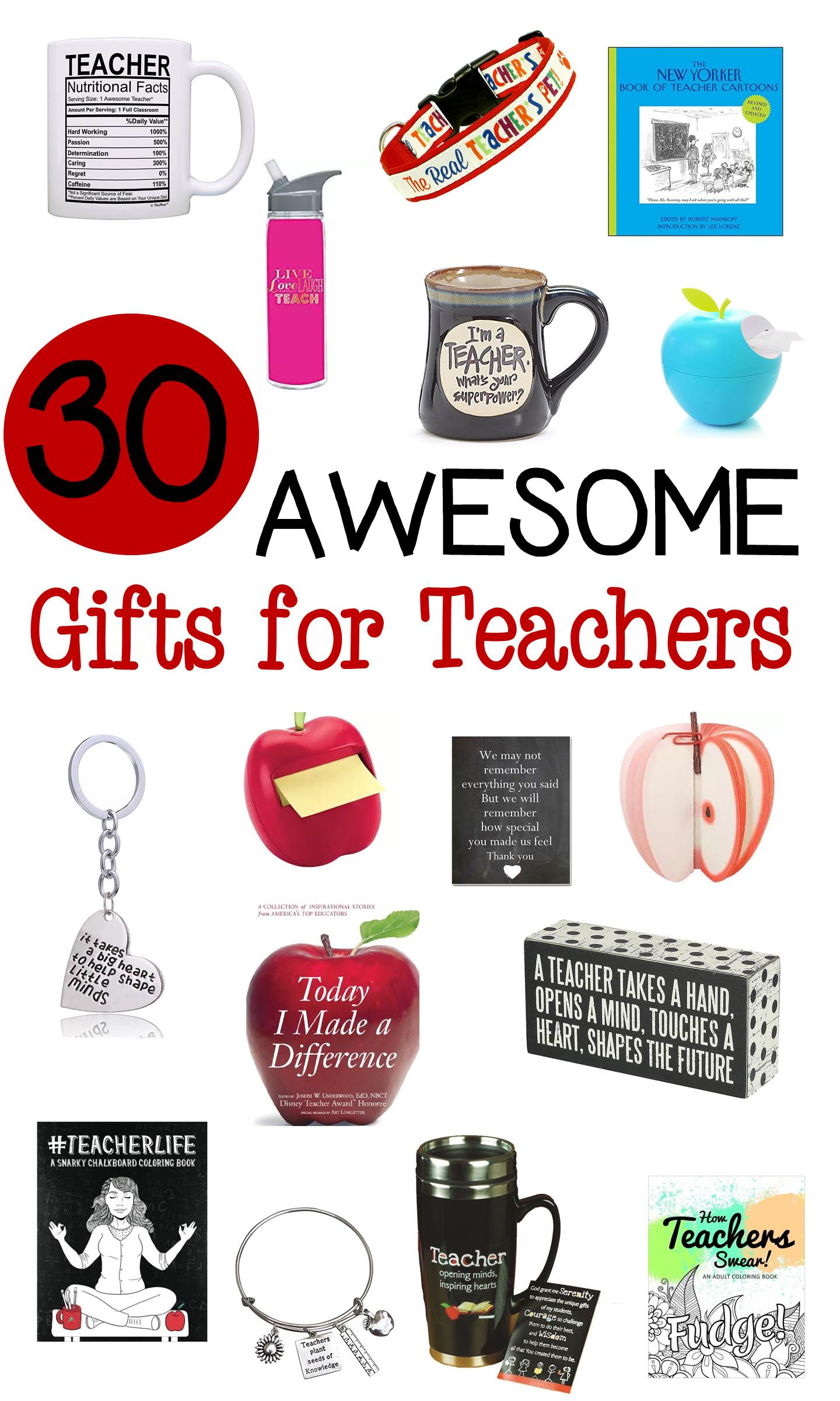 Whether you are looking for Christmas gifts for teachers, Back to School gifts for teachers, or anytime gifts, there are great things in this list!