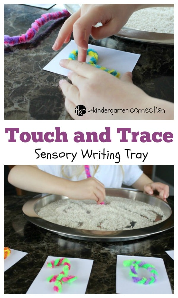Learn letter sounds with this sensory activity. Our Touch and Trace Sensory Writing Tray uses the senses to make letter learning fun.