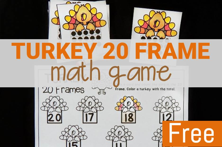 Turkey 20 Frames Math Game