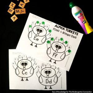 http://thekindergartenconnection.com/turkey-letter-recognition-activity/