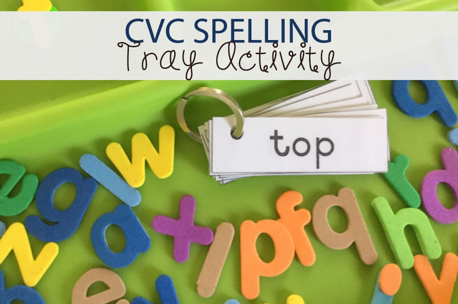 CVC Spelling Tray Activity
