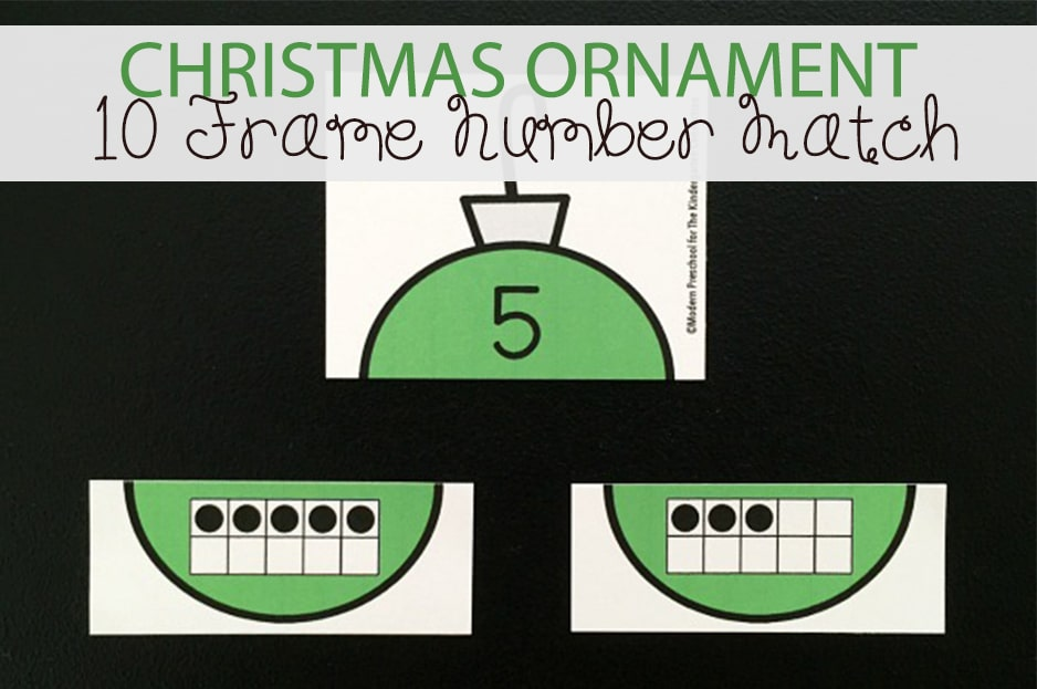 Christmas Ornament 10 Frame Number Match